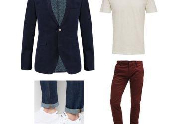 Coole Business Casual Look für Männer. Die Kombination aus Sakko und Chino eignet sich auch für After Work Abende.