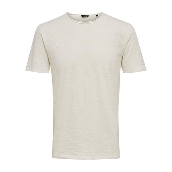 Schlichte Only & Sons Herren Shirt in weiß. Perfekt für einen Herren Business Casual Look.