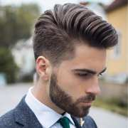 pompadour haircut hair