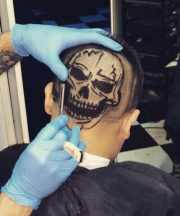 creative hair design men
