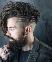 trendy undercut with beard styles