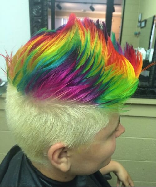 30 Rainbow Hairstyles For Men Hairstyles Ideas Walk The Falls