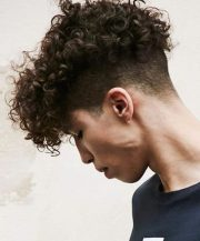undercut with curly hair styles