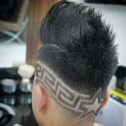 creative star design haircuts