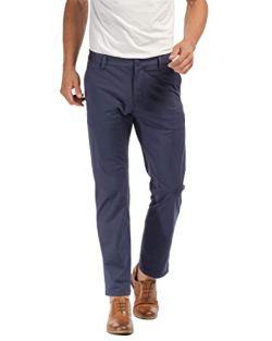 Rhone Men's Commuter Straight-Leg Flat-Front Pants