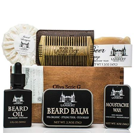 Maison Lambert Ultimate Beard Kit in Cigar Box