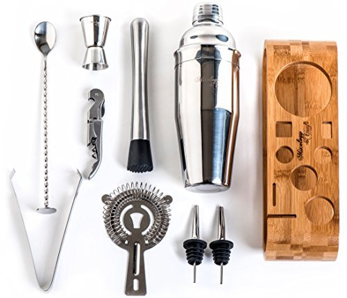 Mixology & Craft Bartender Kit: 10-Piece Bar Tool Set