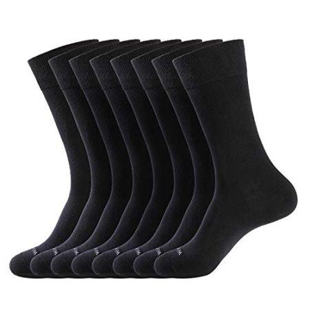 WANDER Men's Dress Socks , 8 Pairs, Black