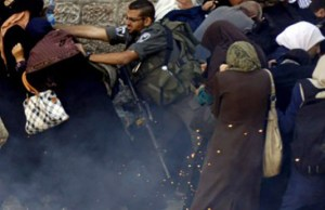 Hapšenje muslimanki - ilustracija