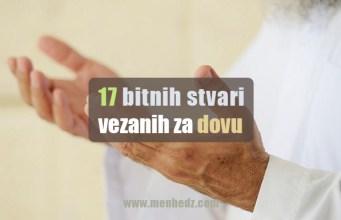 sedamnaest bitnih stvari o dovi