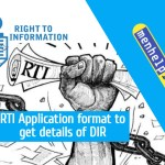 RTI Application format to get details of DIR