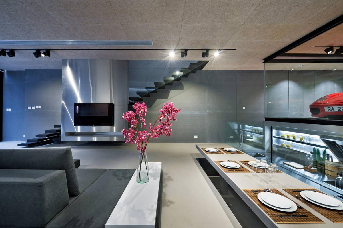villa wohnzimmer modern l | sichtschutz