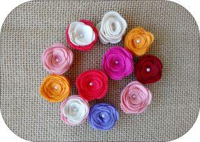 Flor de feltro 2