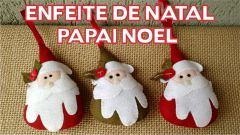 Lembrancinha de Natal papai noel