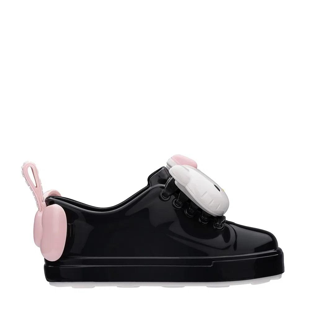 Mini Melissa Be + Hello Kitty Preto Branco Rosa | Melissa - Menina Shoes