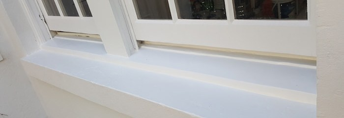 Potts Point window sill restoration