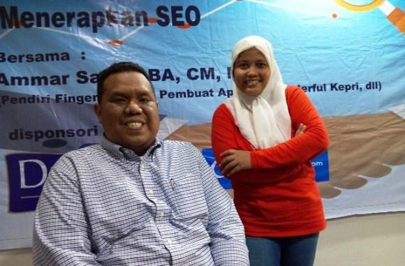 Foto bersama Bang Ammar Satria.