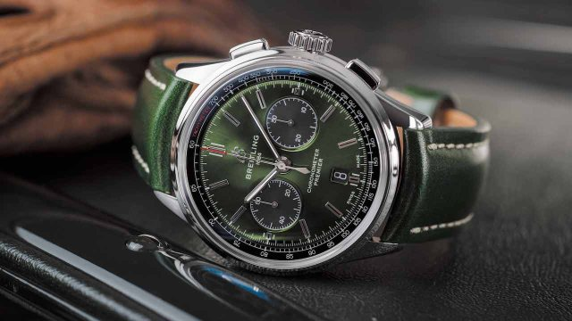 Premier B01 Chronograph 42 Bentley British Racing Green計時腕錶