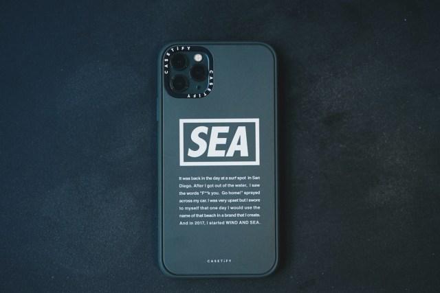 WIND AND SEA x CASETiFY 第二彈聯名手機保護殼,全新設計Military Logo分別有軍綠及純黑款