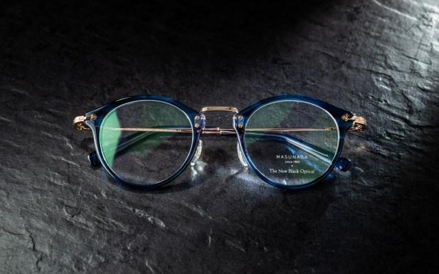 增永眼鏡 Masunaga x The New Black Optical 藍玳瑁.玫瑰金 GMS805(定價:HKD3,200)