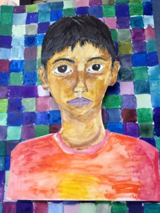 A Self Portrait from Summer Enrichments painting & drawing class