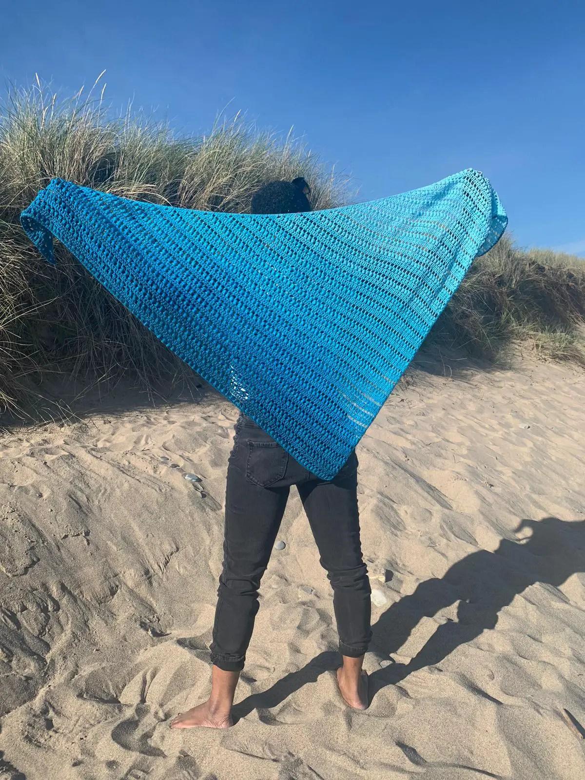 Stella Shawl beginner crochet pattern