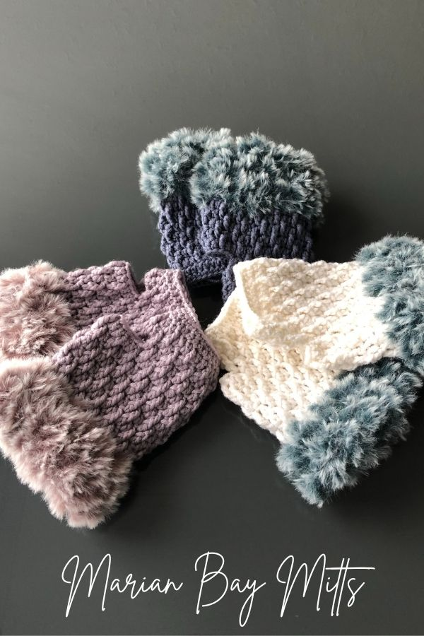 Beginner Crocheted Fingerless Gloves - Marian Bay Mitts