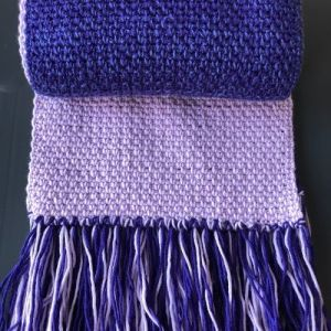 Linen Stitch Scarf with Fringe