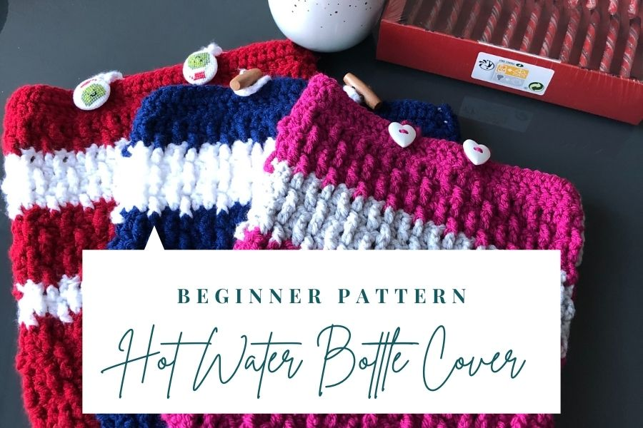 FREE beginner hot water bottle crochet pattern