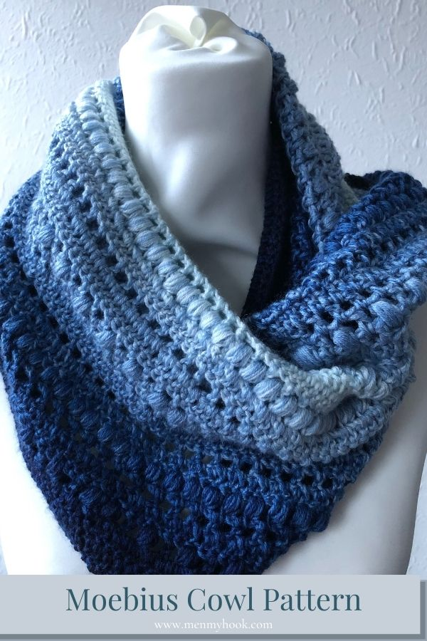 Intermediate Twisted Crochet Cowl pattern pdf digital download
