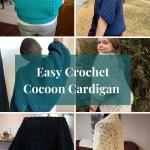 Easy womens crochet cocoon cardigan pattern