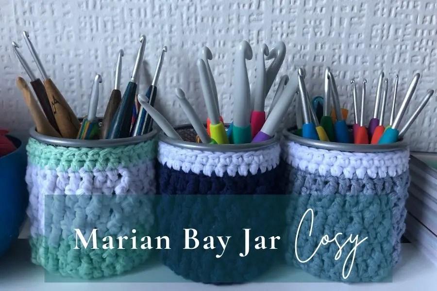 Easy beginner crochet mason jar, or jar cosy pattern