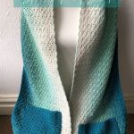 Beginner easy crochet pocket shawl pattern