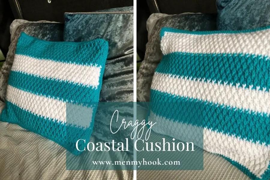Free crochet cushion cover pattern craggy coastal cushion