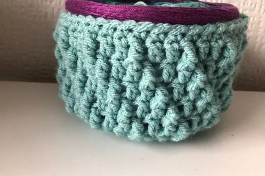crochet storage basket pattern - totally textured yarn baskets