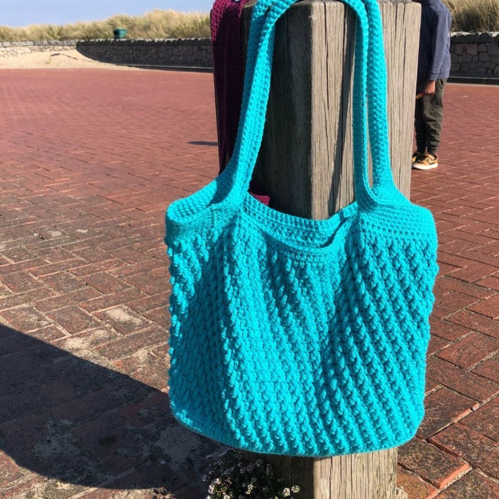 Crochet Tote Bag Pattern - On the Bias Tote
