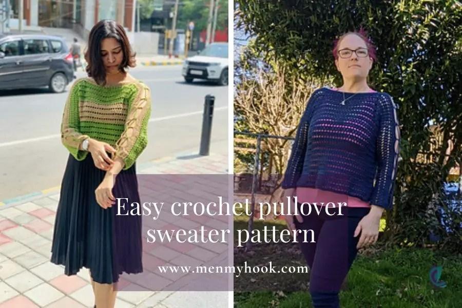easy crochet pullover jumper pattern