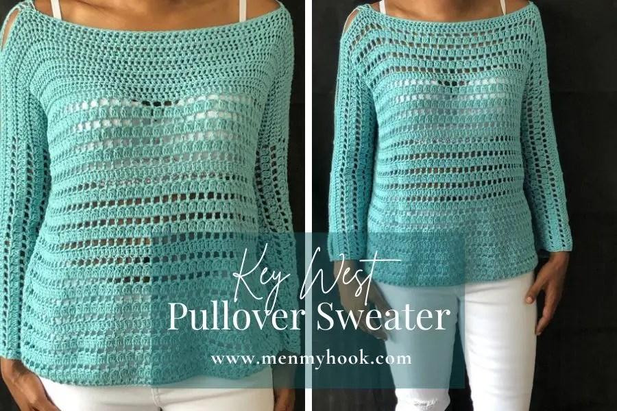 beginner crochet pullover sweater pattern