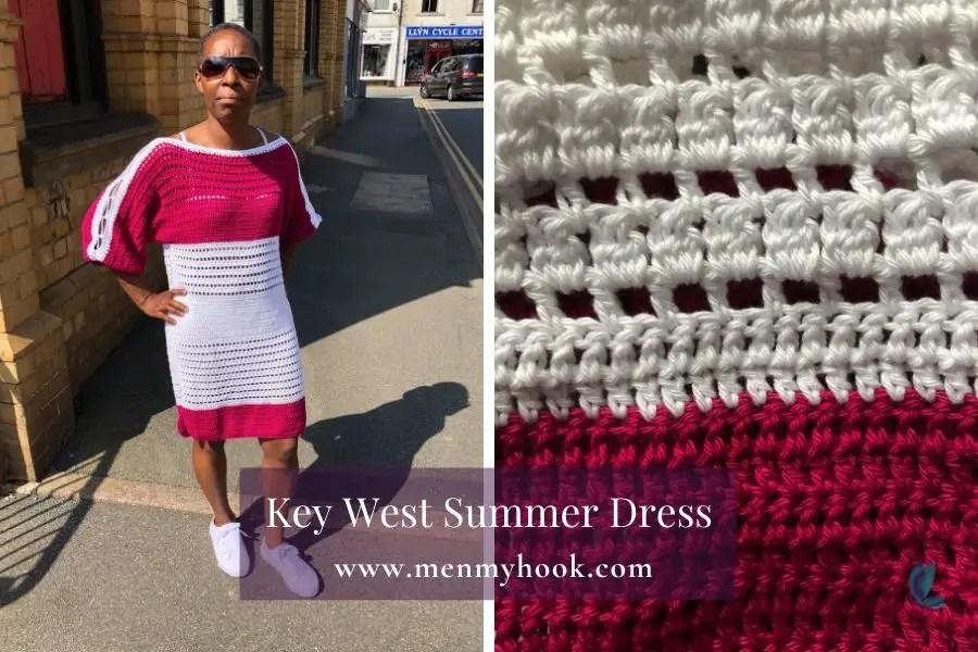 Key West Summer Dress - crochet summer dress pattern
