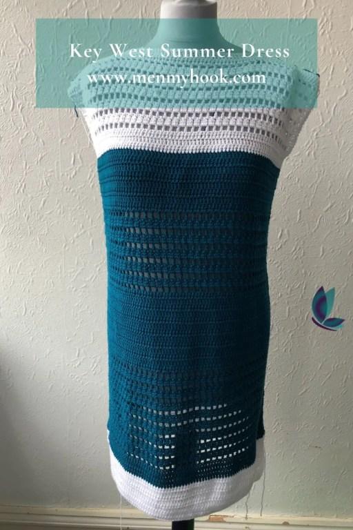 Easy beginner crochet summer dress pattern