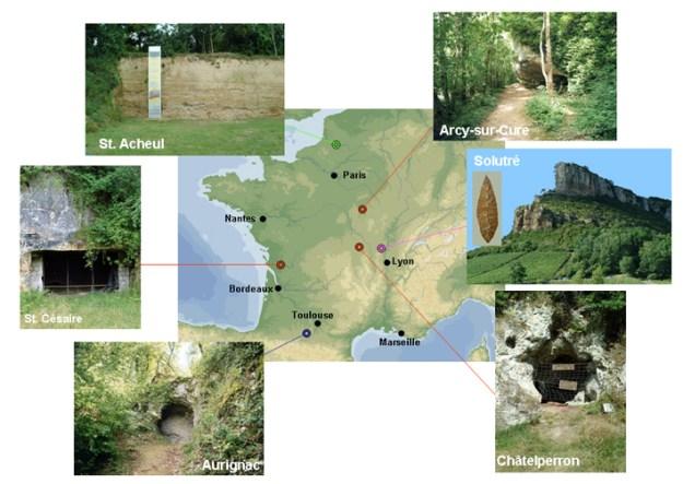 Nogle lokaliteter i Frankrig