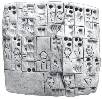 En 6.000 år gammel sumerisk lertavle, der fortæller om fremstillingen af øl.