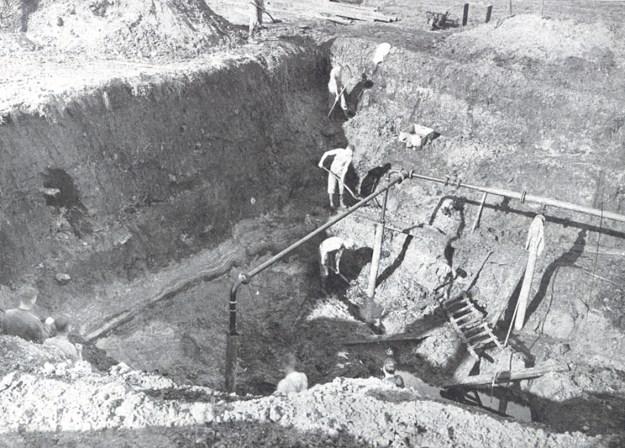 Udgravninger i 1935 ved Stellmoor (fra A. Rust, 1943)