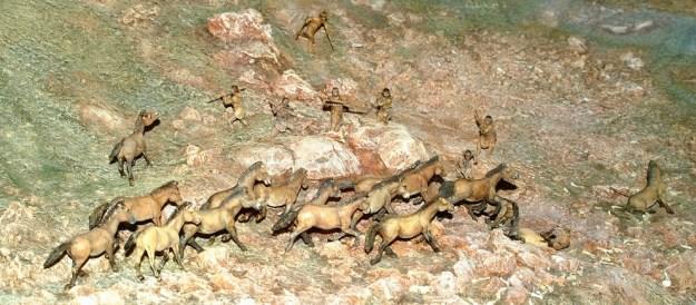 Jagten på heste var central ved Solutré-klippen - fra museet