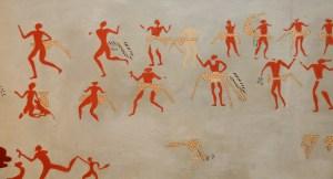 Rekonstruktion af vægmaleri, Catal Hüyük