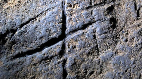 Skraveringen fra Gorham's Cave