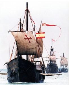 rekonstruktion af Columbus' tre karaveller, Niña, Pinta og Santa Maria, hvormed han sejlede over Atlanten i 1492