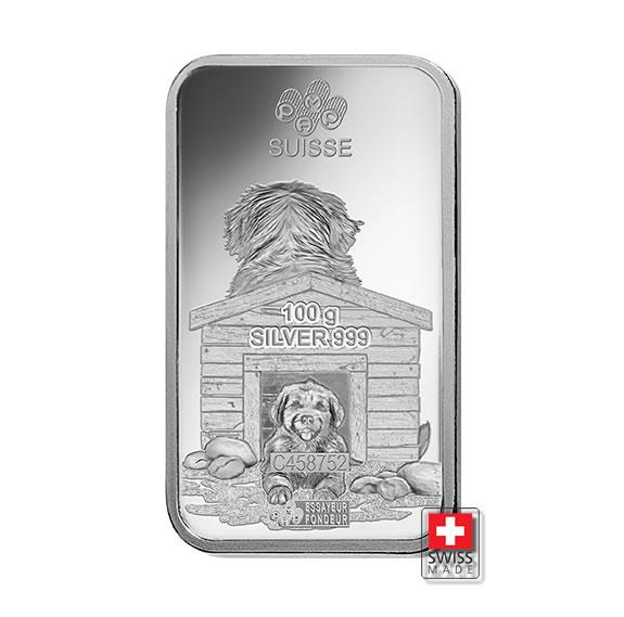 sztabka dog 100 gram srebro