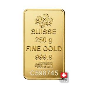 sztabka 250 g fortuna złoto