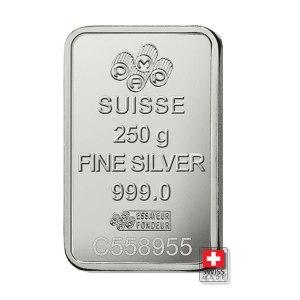 sztabka 250 gram srebro